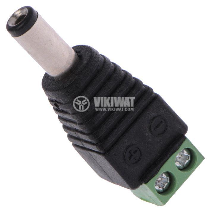LED strip plug power connector 5.5x2.1mm - 1