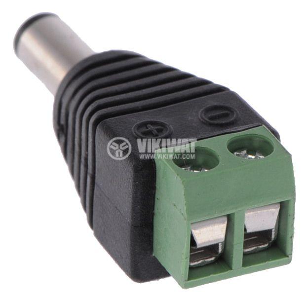 LED strip plug power connector 5.5x2.1mm - 3