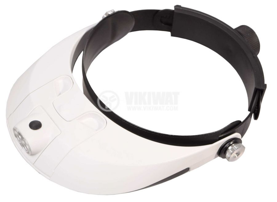 Head magnifier with light MG81001-G, magnification 1.5X to 6.0X - 2