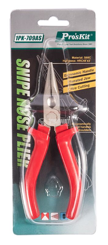 Needle-Nosed Pliers 1PK-709AS, 165mm - 1