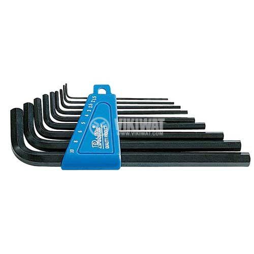 Имбусни ключове - шестограми, комплект 9 размера, 8PK-024 - 1