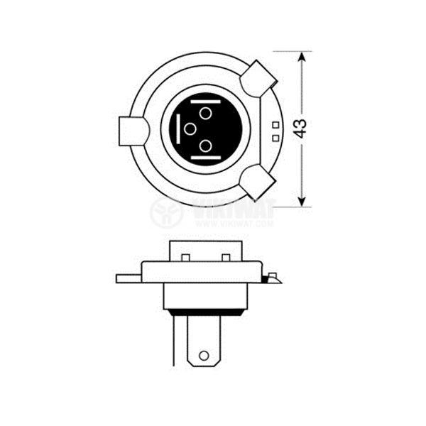 Автомобилна халогенна лампа H4 - 2