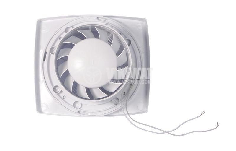Bathroom fan, Extractor fan 120, 220VAC, ф120mm, 105m3/h, 13W - 2
