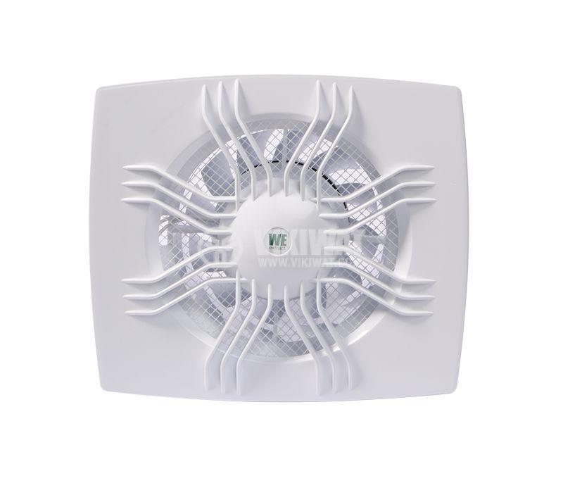 Bathroom fan, Extractor fan 120, 220VAC, ф120mm, 105m3/h, 13W - 1