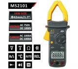 Амперклещи MS2101, LCD (4000), Φ42mm, Vac, Vdc, Aac, Adc, °C, F, Ohm, Hz, MASTECH