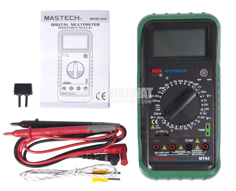 Multimeter MY64, LCD, VAC, VDC AAC, ADC, Ohm, ° C, Hz - 2