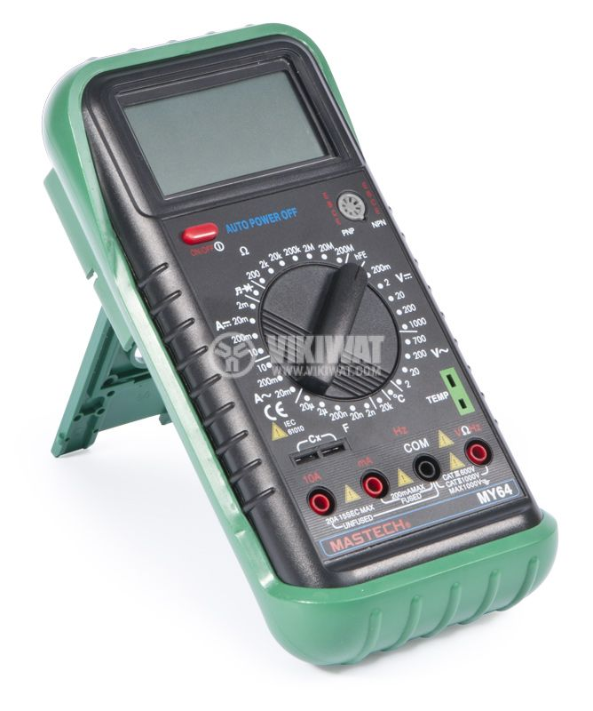 Multimeter MY64, LCD, VAC, VDC AAC, ADC, Ohm, ° C, Hz - 1