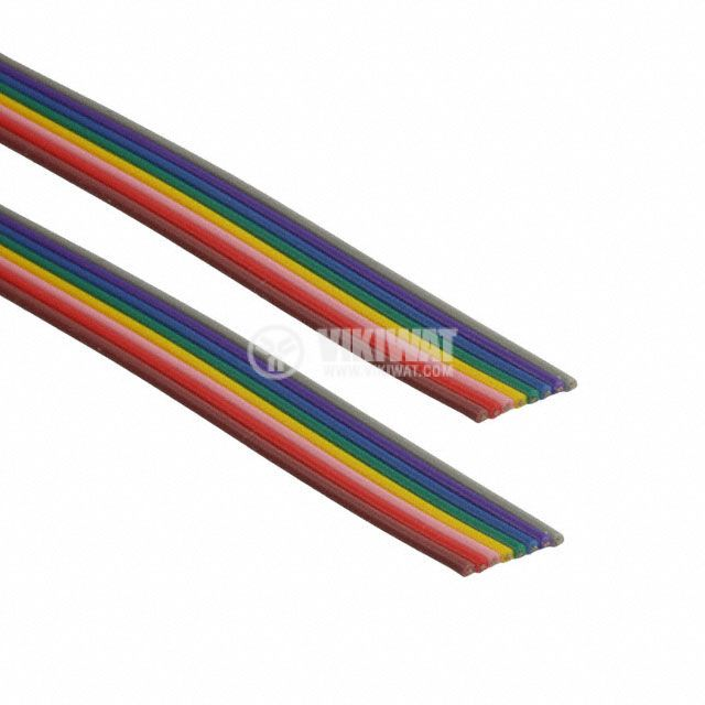 Multicolor flat cable 8x0.2mm2