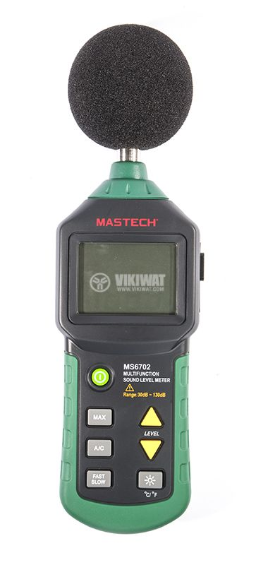 Digital sound level meter MS6702 with temperature and humidity - 1