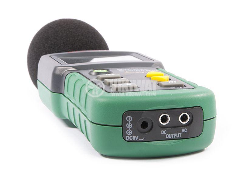 Уред за измерване нивото на звука MS6702, термометър и влагомер - 4