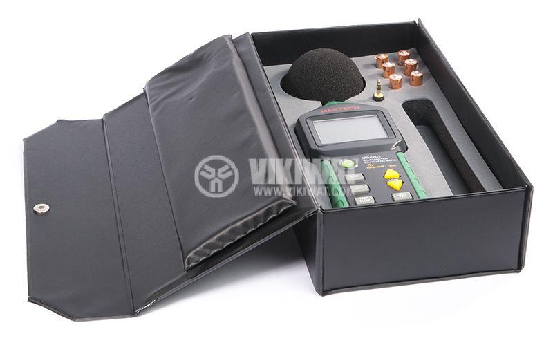 Уред за измерване нивото на звука MS6702, термометър и влагомер - 6
