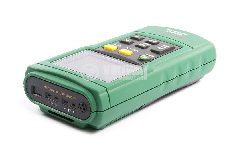 Цифров преносим термометър MS6512 за термодвойки K, J, T, E - 3
