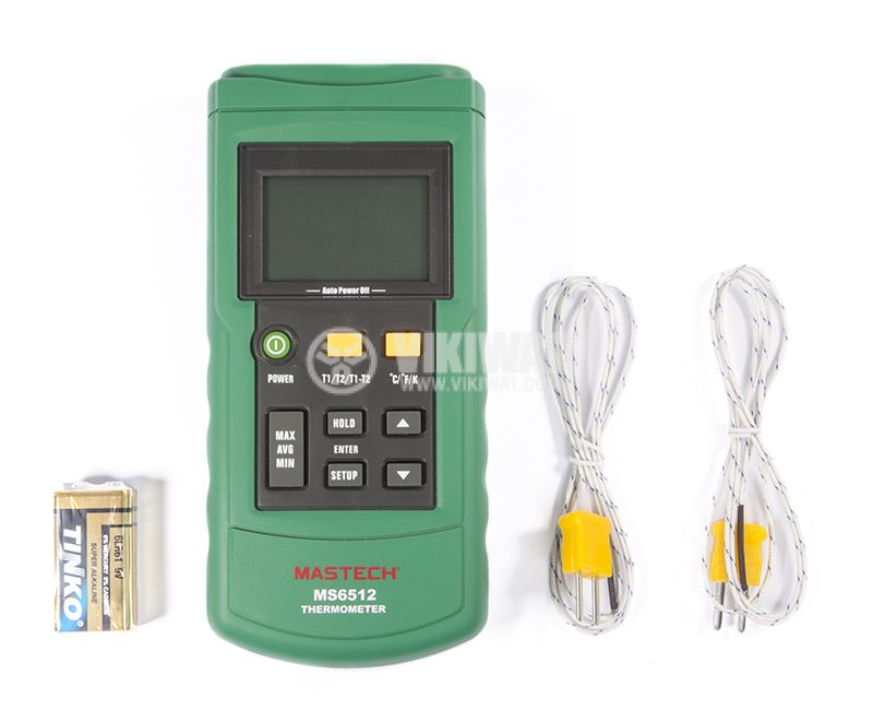 Digital handheld thermometer MS6512 for thermocouple type K, J, T, E - 1