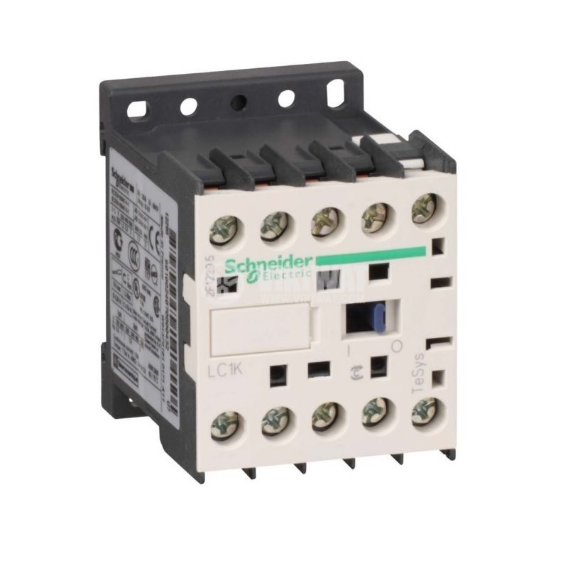Contactor, three-phase, coil 380VAC, 3PST - 3NO, 12A, LC1K1210Q7, NO