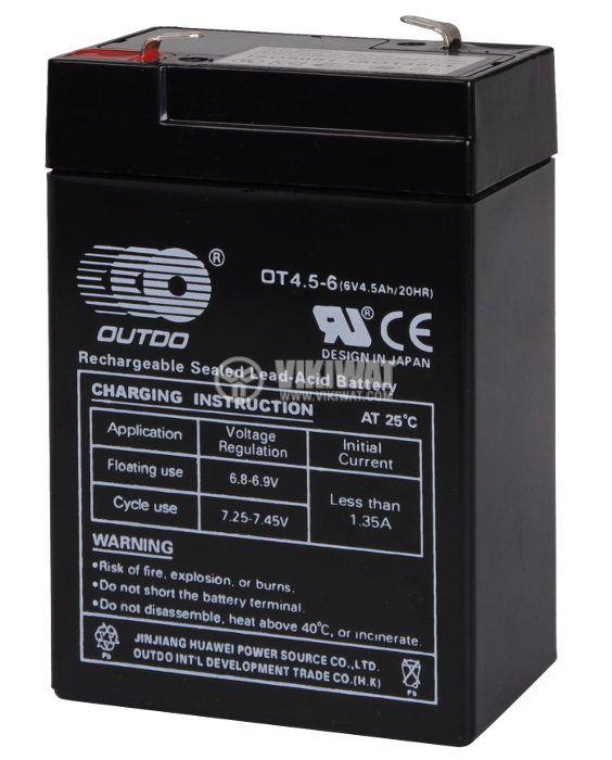 Акумулатор 6V 4.5Ah OT4.5-6 гелов