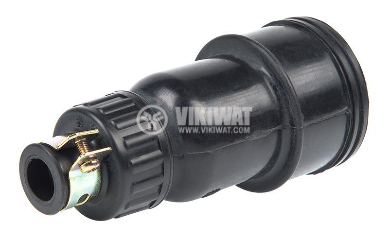 Military connector, 3P+N, 440VAC, 15A, rubber, female - 3