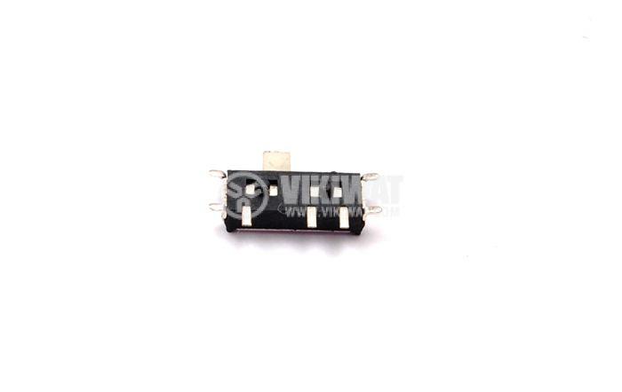 Микропревключватели, двупозиционни, 3 пина, 0.5 A, 50 V, SMD монтаж
