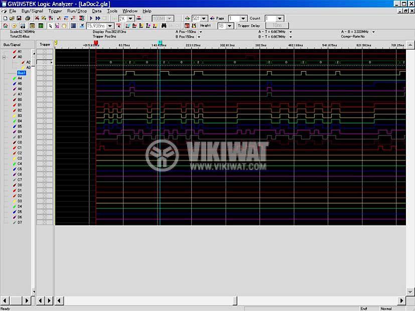 Логически анализатор GLA-1016, 16 входа - 4