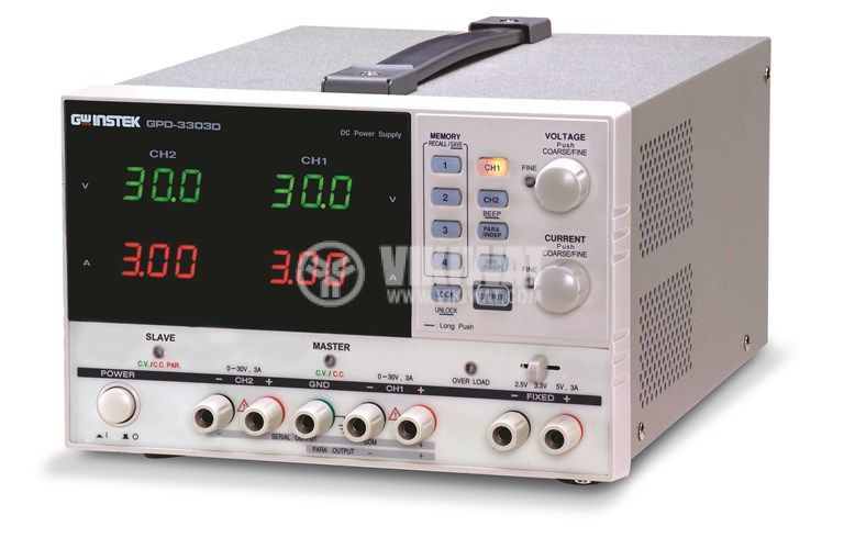 Programmable Linear DC Power Supply GPD-3303D, 3 Independent Isolated Output - 1