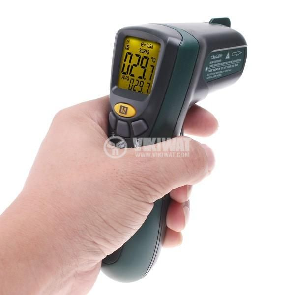 Infrared thermometer, MS6520A, - 20 °C to +300 °C, D:S 10:1 - 2