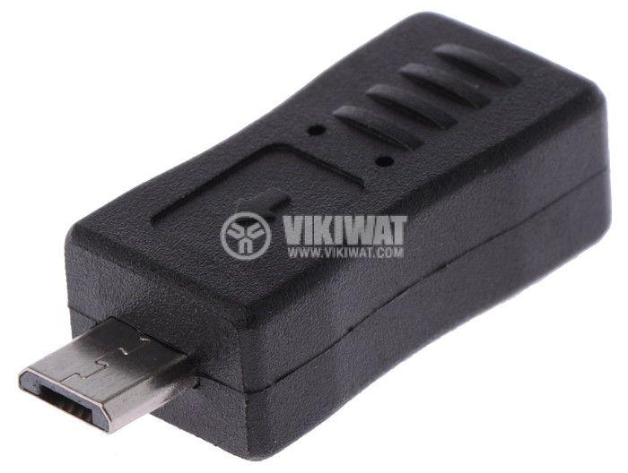 Adapter, mini USB F - micro USB M - 1