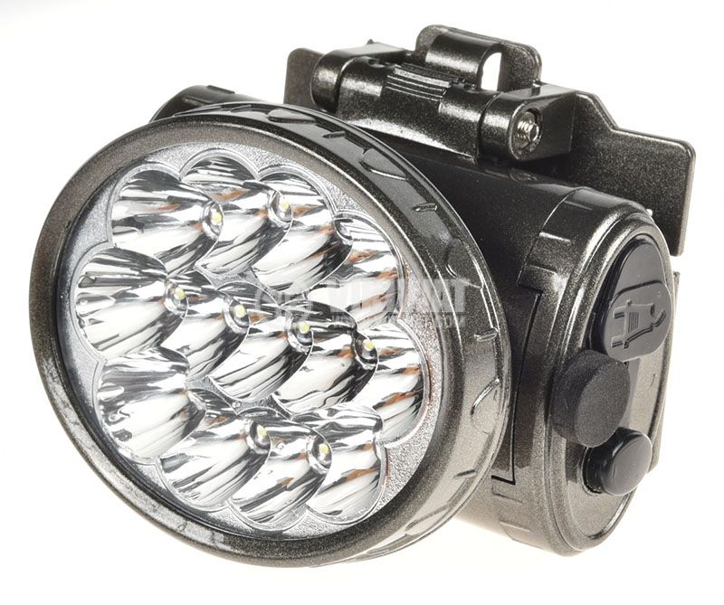 LED headlamp, rechargeable, YJ-1898, 13LEDs, 100lm - 1