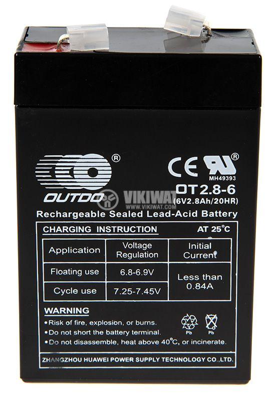 Акумулатор OUTDO OT2.8-6  - 1