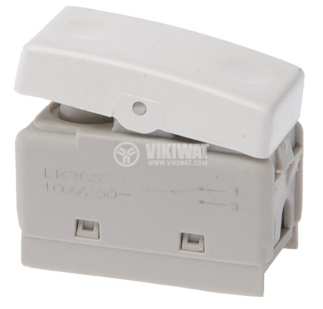 Deviatore electrical switch, 250 V/AC, 10 A, white, LK30573
