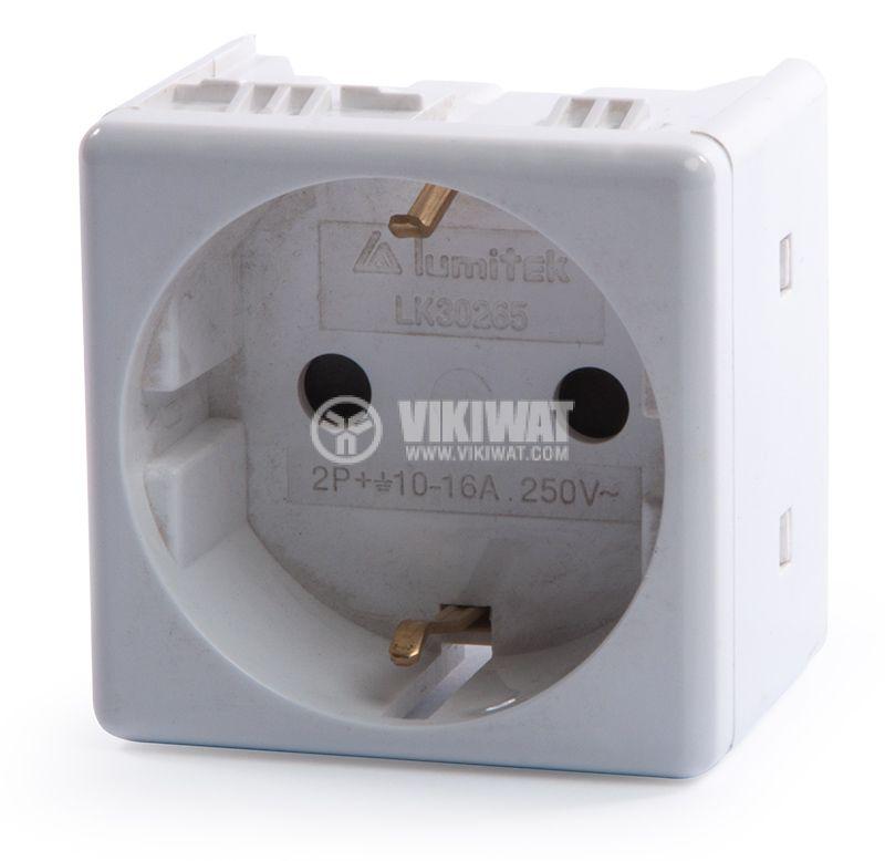 Модулен електрически контакт LK30265, шуко, 16A, 250VAC - 3
