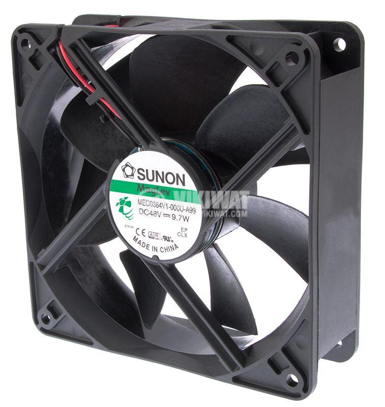 Fan MEC0384V1-000U-A99, 48VDC, 120x120x38mm, MagLev, 235m3/h - 1