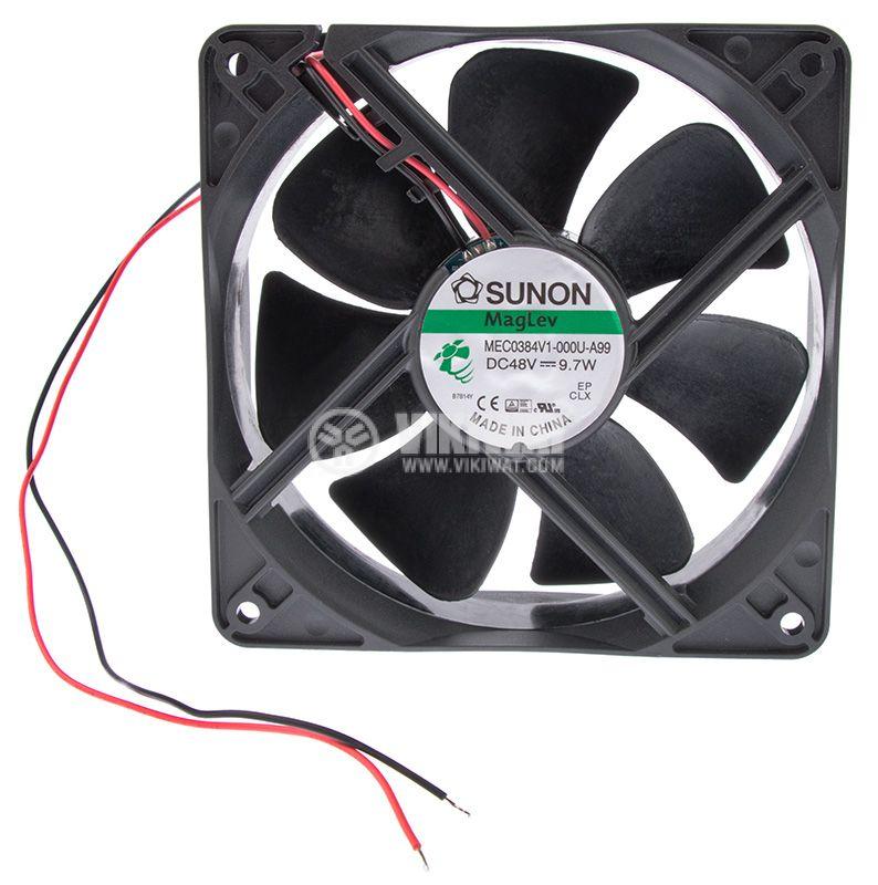 Fan MEC0384V1-000U-A99, 48VDC, 120x120x38mm, MagLev, 235m3/h - 3