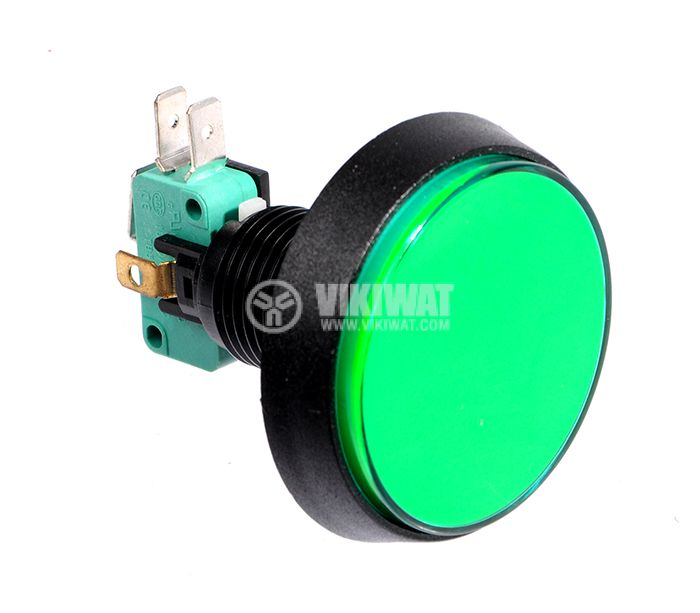 Button PBS-36, 24VDC, 250VAC, 16A, SPDT - NO+NC green - 1