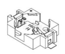 Държач за LI-MH батерия ф16mm - 2