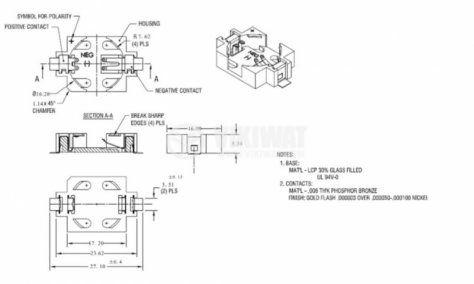 Държач за LI-MH батерия ф16mm - 3