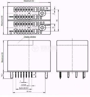 Електромагнитно специално реле бобина 220VAC  250VAC/10A 8PDT - 8NO+8NC 4 RH 40 - 3