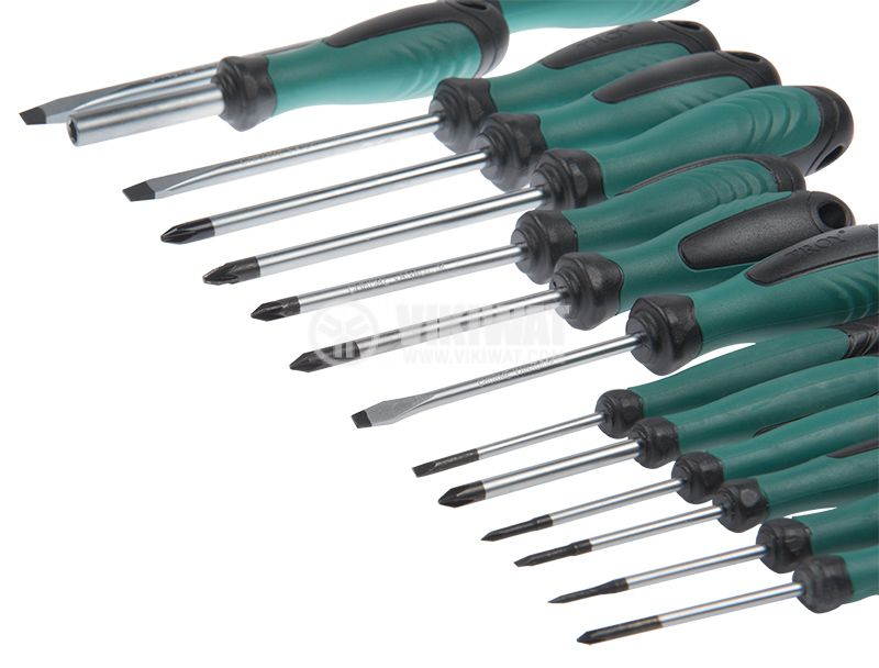 Set of professional screwdrivers, 32 pieces, Troy T22332 - 5