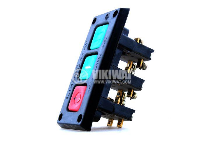 Schaltbau Push Button PKDT2-1, 380 VAC/6.3 A, 2NO +1 NC - 1