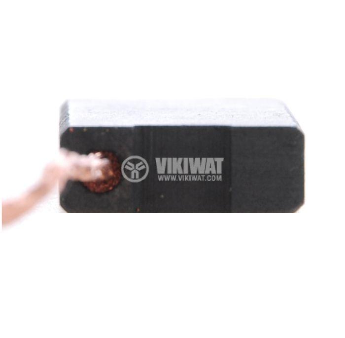 Четка въглено-графитна, SG-06-126-88, 6x16x26 mm, със страничен извод, кабелна обувка 6.3 mm - 2
