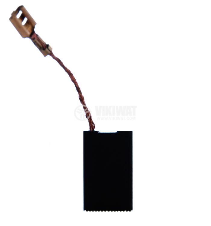 Четка въглено-графитна, SG-06-126-88, 6x16x26 mm, със страничен извод, кабелна обувка 6.3 mm - 1