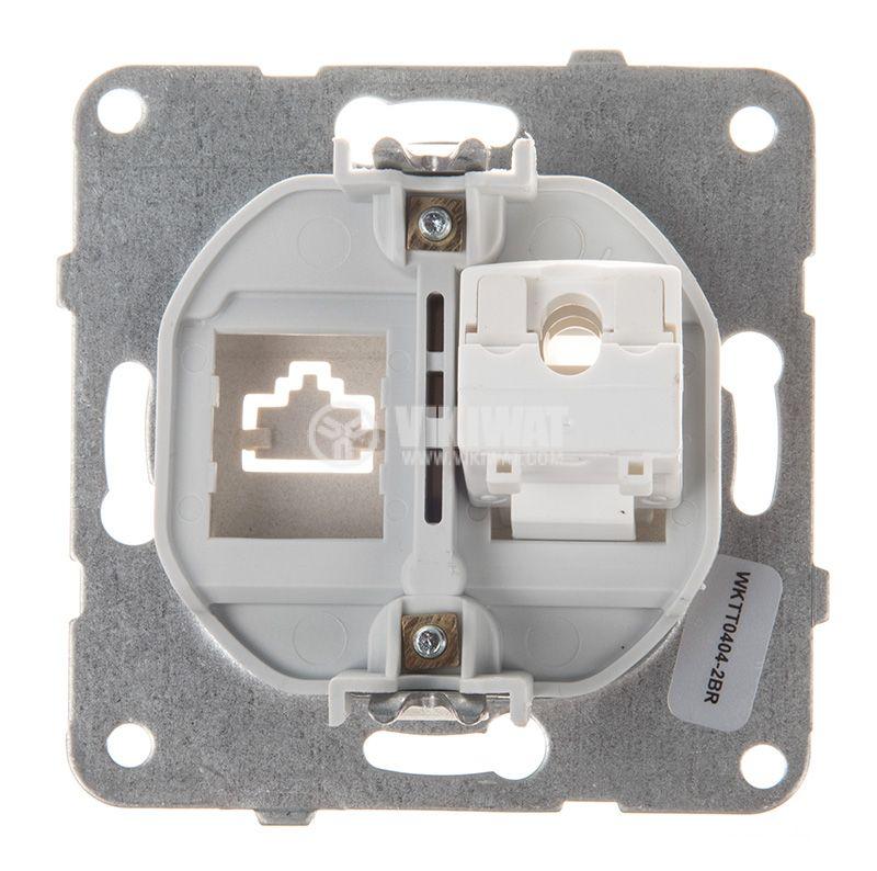 Telephone and Data socket, RJ45 Cat5e, bronze, WKTT0404-2BR, mechanism+cover plate - 3