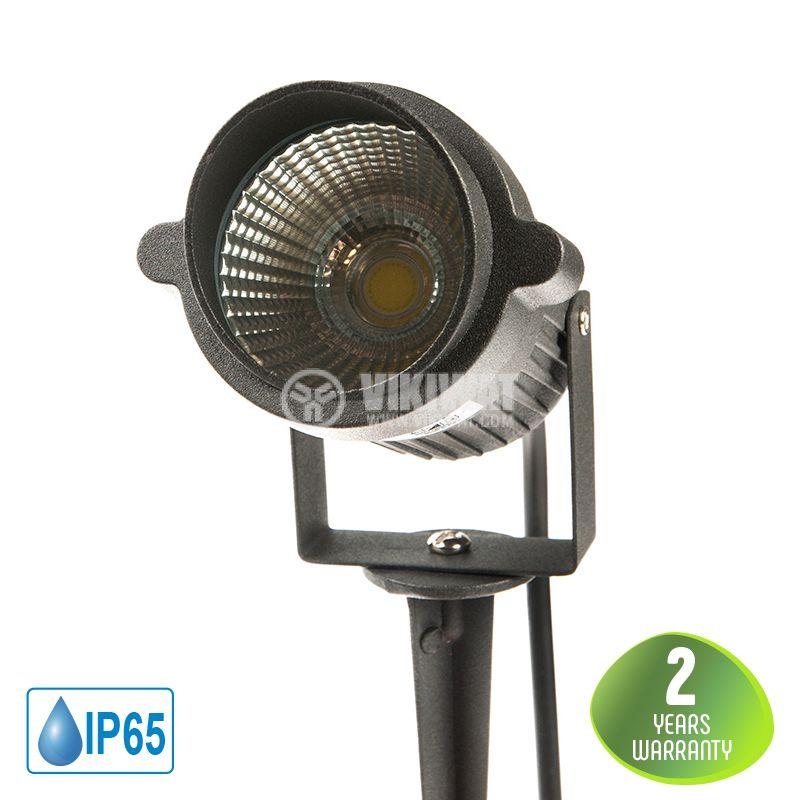 LED градинско тяло 9W, 220VAC, 720lm, 6500K, студено бяло, IP65, влагозащитено, BT25-00132 - 1