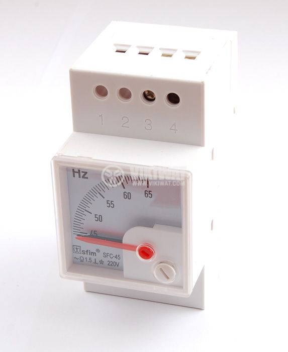 Frequency meter, 45 - 65 Hz , 220 V, SFC-45, DIN 35 mm