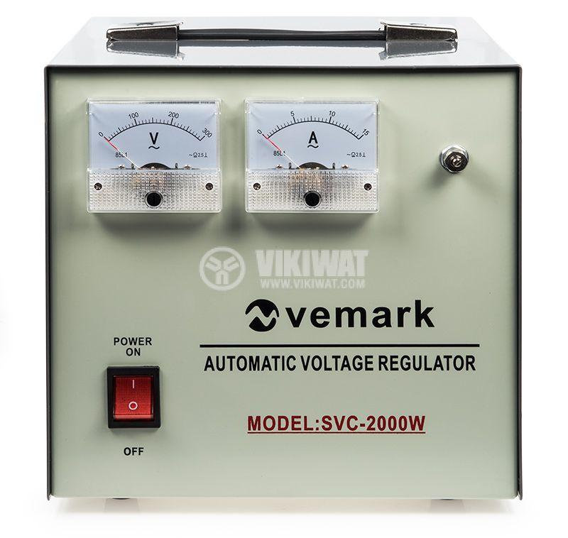 Стабилизатор на напрежение SVC-2000W 2000VA 220V серво мотор