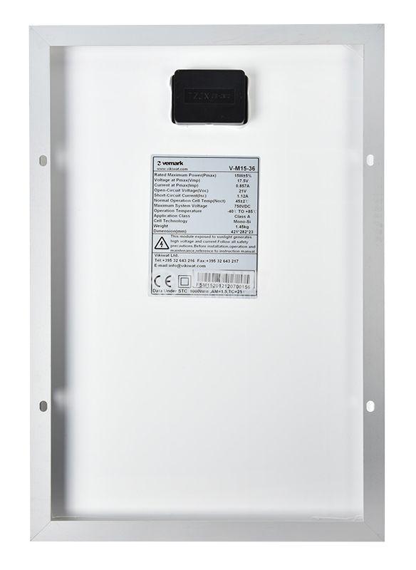 Photovoltaic solar panel V-M15-36 15W - 3