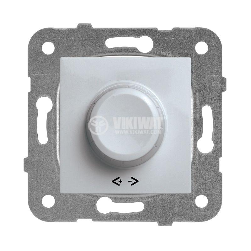 Rotary Dimmer, Panasonic, mechanism+rocker, RLC 20-350W, 230VAC, silver, WKTT0524-2SL