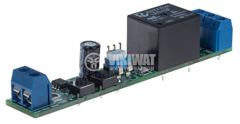 Старт/Стоп таймер 555, 12VDC, 0.5 до 490s, 7А/240VAC - 3