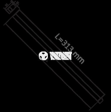 LED лампа за стена 4W, 220VAC, 310lm, 3000K, топло бяла, 313mm, BL30-0400 - 2