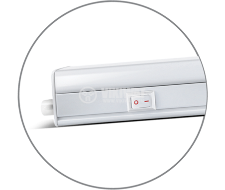 LED лампа за стена 4W, 220VAC, 310lm, 3000K, топло бяла, 313mm, BL30-0400 - 3