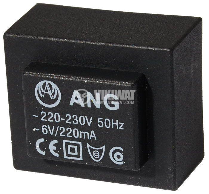 Tрансформатор за печатен монтаж 6 VAC, 1.3 VA - 1