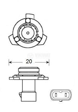 Автомобилна халогенна лампа HB3A - 2